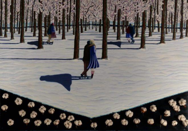 the cotton path huile sur toile 165cm*114cm 2014